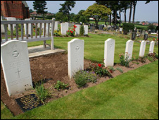 Airmen's graves at Hawarden cemetery