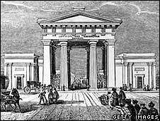 The Euston arch soon after its construction