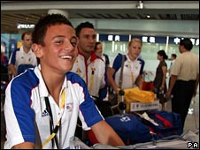 Team GB diver Tom Daley arrives in Beijing ahead of the Olympic Games