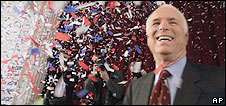 John McCain wins New Hampshire primary