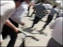 صور التقطها مواطن عراقي وقت وقوع الهجمات في كركوك