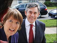 Harriet Harman and Gordon Brown