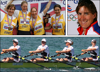 Women's quadruple scull of Katherine Grainger, Frances Houghton, Debbie Flood and Annie Vernon