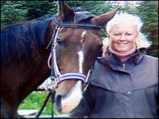 Henry the horse with owner Rebecca Baillie
