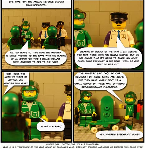 Lego-based comic Grunts, by Doctor Sinister