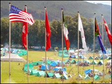 The Blair Atholl camp