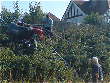 Newhaven helicopter crash (picture by Diane Perrott)
