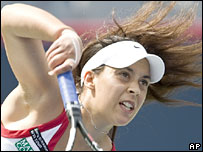 French tennis player Marian Bartoli