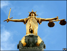 Scales of Justice at the Old Bailey