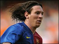 Leonel Messi en camiseta del Barcelona
