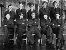 Crew of the Washington bomber which crashed in 1953