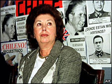 Lucia Pinochet Hiriart in a file photo from 1999 when her father was under house arrest in Britain