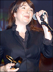 Kate Bush at the Q Awards in 2001