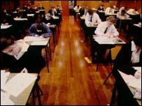 A-level exam room