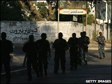 Police on patrol in Gaza
