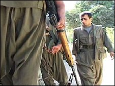 PKK fighters in northern Iraq