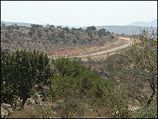 Barrier in the northern West bank