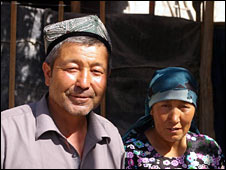 Proud parents of Mehmet Tursun Chong (Image: Hugh Sykes)