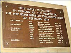 The memorial plaque