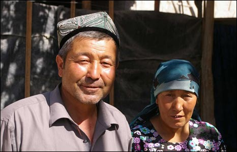 Mehmet Tursun Chong's parents, in Yizebah (Image: Hugh Sykes)
