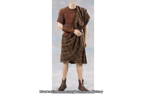 Mel Gibson's clothes from Braveheart