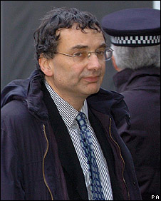 Mervyn Lebor outside the High Court in London, November 2007