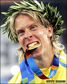 Olympic triple jump champion Christian Olsson