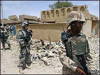 soldados iraquíes en la provincia de Diyala