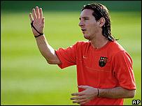 Lionel Messi, con la camiseta del Barcelona FC