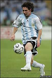 Lionel Messi, futbolista estelar de la selecci�n argentina