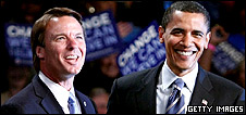John Edwards and Barack Obama