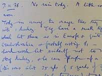 Orwell's diary � UCL Orwell Archive