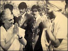 Milkha Singh with former Prime Minister Indira Gandhi