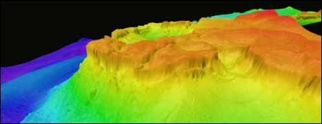 How the seabed appears