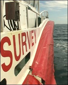 Survey ship