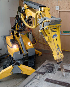 Machine at work in Dounreay (Pic: DSRL)