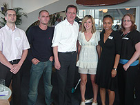 James Richards, Ross McKay, David Cameron, Laura Barritt, Shevell Bachelor and Lauren Evans