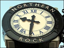 Northern Rock clock in Newcastle