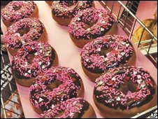 A tray of Dunkin' Donuts