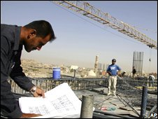 A construction site in Irbil, north of Baghdad (file photo)