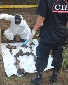 Investigators reconstruct Alonso Echevarria's body