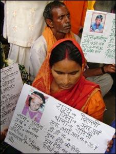 Parents of missing children in Delhi