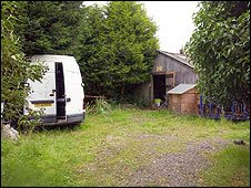The larger of two outbuildings, referred to as the Workshop