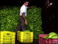 Comerciante de bananos en A. Latina.