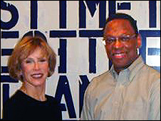 Alvin Hall with Thea Westreich