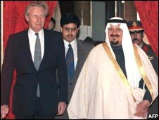 Michael Heseltine and Prince Sultan Bin Abdulaziz Al Saud