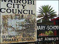 Sign outside Nairobi school
