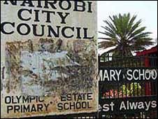 Sign outside Nairobi school
