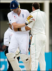 Andrew Flintoff and Andre Nel
