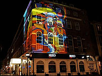 Bbc news programmes newsnight remembering 1968 for Apple boutique mural